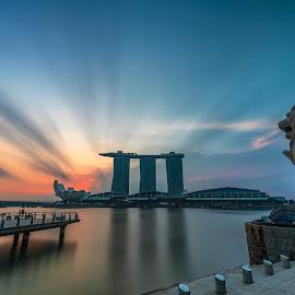 Marina Bay Sands from Merlion by Ketan Vikamsey - Buildings & Architecture Statues & Monuments ( pic of the day, natgeoyourshot, singapore tourism, natgeohd, fotorbit, great nature, natgeo, photo of the day, marina bay sands, insta asia, bbctravels, ketan vikamsey, singapore flier, canon5dmarkiv, canonusa, wonderful places, lonelyplanet, lonelyplanetmagazineindia, worldphotographicforum, merlion, canonphotography, striking singapore, waterscape, kv kliks, natgeotravel, visit singapore, travel the world pix )