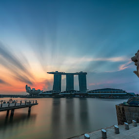 Marina Bay Sands from Merlion by Ketan Vikamsey - Buildings & Architecture Statues & Monuments ( pic of the day, natgeoyourshot, singapore tourism, natgeohd, fotorbit, great nature, natgeo, photo of the day, marina bay sands, insta asia, bbctravels, ketan vikamsey, singapore flier, canon5dmarkiv, canonusa, wonderful places, lonelyplanet, lonelyplanetmagazineindia, worldphotographicforum, merlion, canonphotography, striking singapore, waterscape, kv kliks, natgeotravel, visit singapore, travel the world pix )