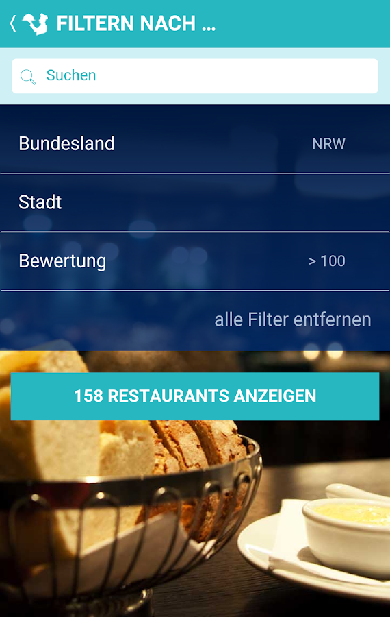 Restaurant Bestenliste- screenshot