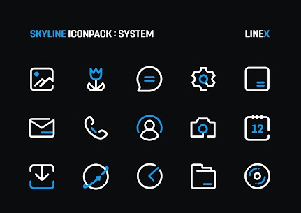 SkyLine Icon Pack : LineX Blue Edition v1.7 [Patched] 7