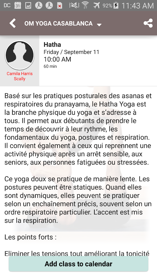Om Yoga Casablanca- screenshot