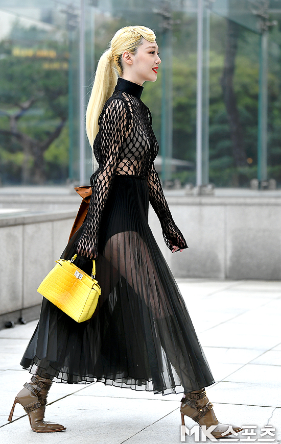 sulli seethrough dress 4
