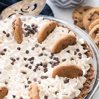 No Bake Chocolate Chip Cookie Pudding Pie.