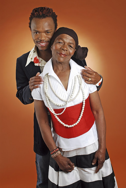 Somizi Mhlongo poses with his mother Mary Twala in 2006.