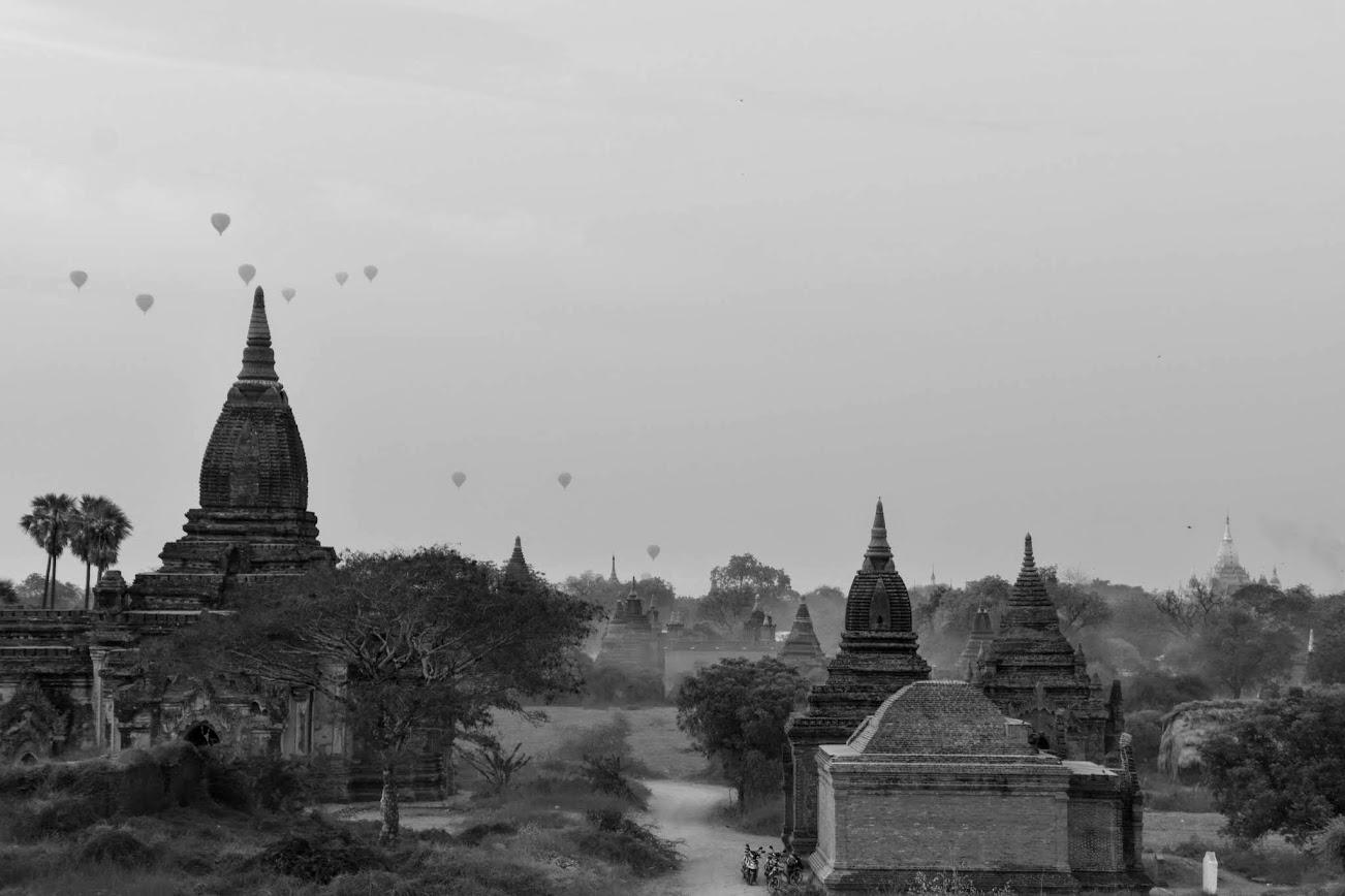 globo en Bagan