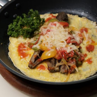 Cheese and Eggplant Omelet.