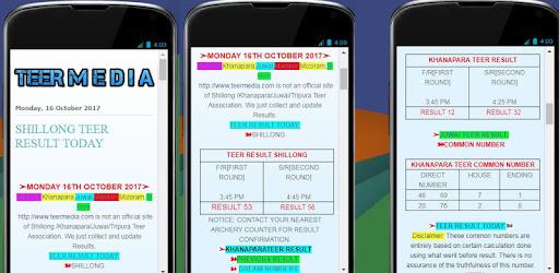 Shillong Teer Result|Teer Counter - Apps on Google Play