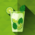 Mixed drink cocktails recipes icon