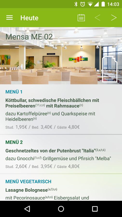 Universität Wuppertal- screenshot