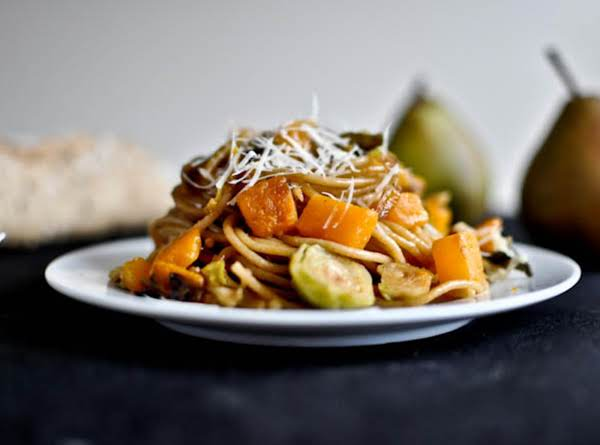 Carmelized Pear, Squash And Parmesan Noodles Recipe