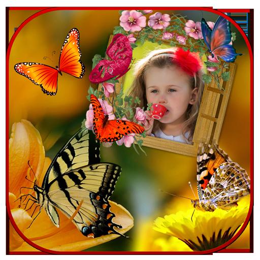 Butterfly Photo Frames 遊戲 App LOGO-硬是要APP