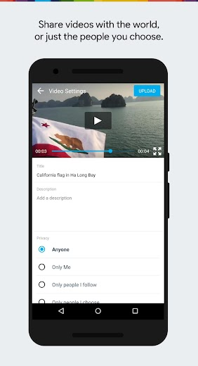 Screenshot 2 for Vimeo's Android app'