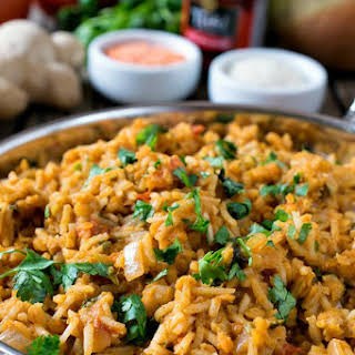 Curried Rice Pilaf With Red Lentils.