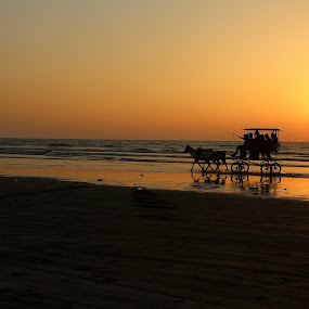 The solitary ride by Abhijit Chattopadhyay - Landscapes Beaches