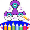 Coloring Book Pages: Fidget Spinner Coloring Games