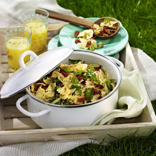 Pasta Salad with Sun-Dried Tomatoes and Basil.