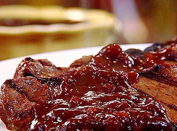 New York Strip Steak And Molasses Steak Sauce