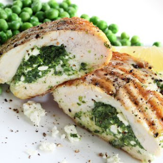 Spinach and Ricotta Stuffed Chicken Breast.