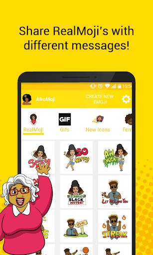 PC u7528 AfroMoji: African Afro Emoji Stickers Black 1