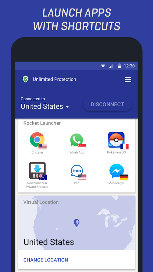 Rocket VPN – Internet Freedom- screenshot