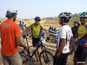 Photo: Some post race discussions..