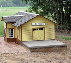 Photo: Gil Freitag's Lakeside Station with the concrete station pad he added this last week.     HALS 2009-0919