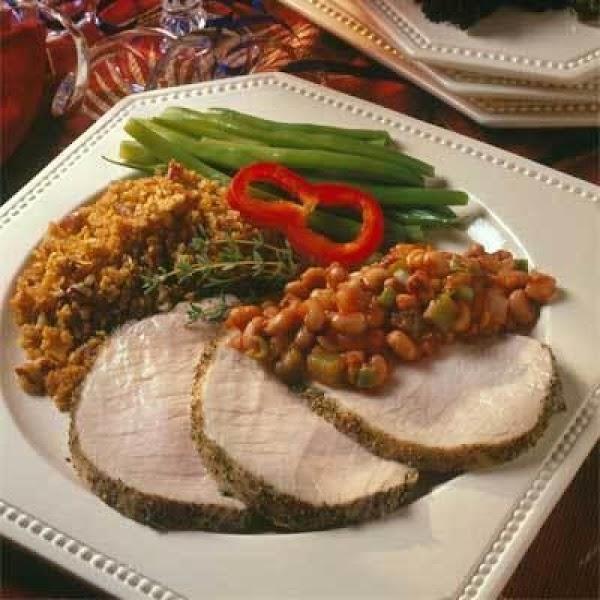 Boneless Pork Loin Roast With Herbed Pepper Rub Recipe