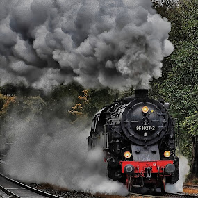 Steamer!                    by Olaf Pohling - Transportation Trains ( steamtrain, old, steamloc, train, germany, steam )
