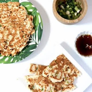 Vegan Keto Scallion Pancakes (nut free, allergen free, low carb).