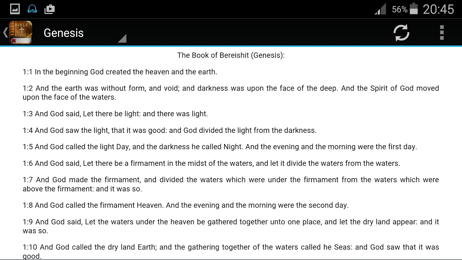 King James Bible audio- screenshot