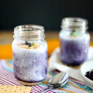 Vegan Blueberry Cheesecake Swirl Smoothies