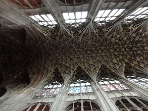 Photo: The splendid roof of Gloucester Cathedral