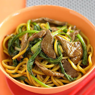 Beef and Choy Sum with Noodles