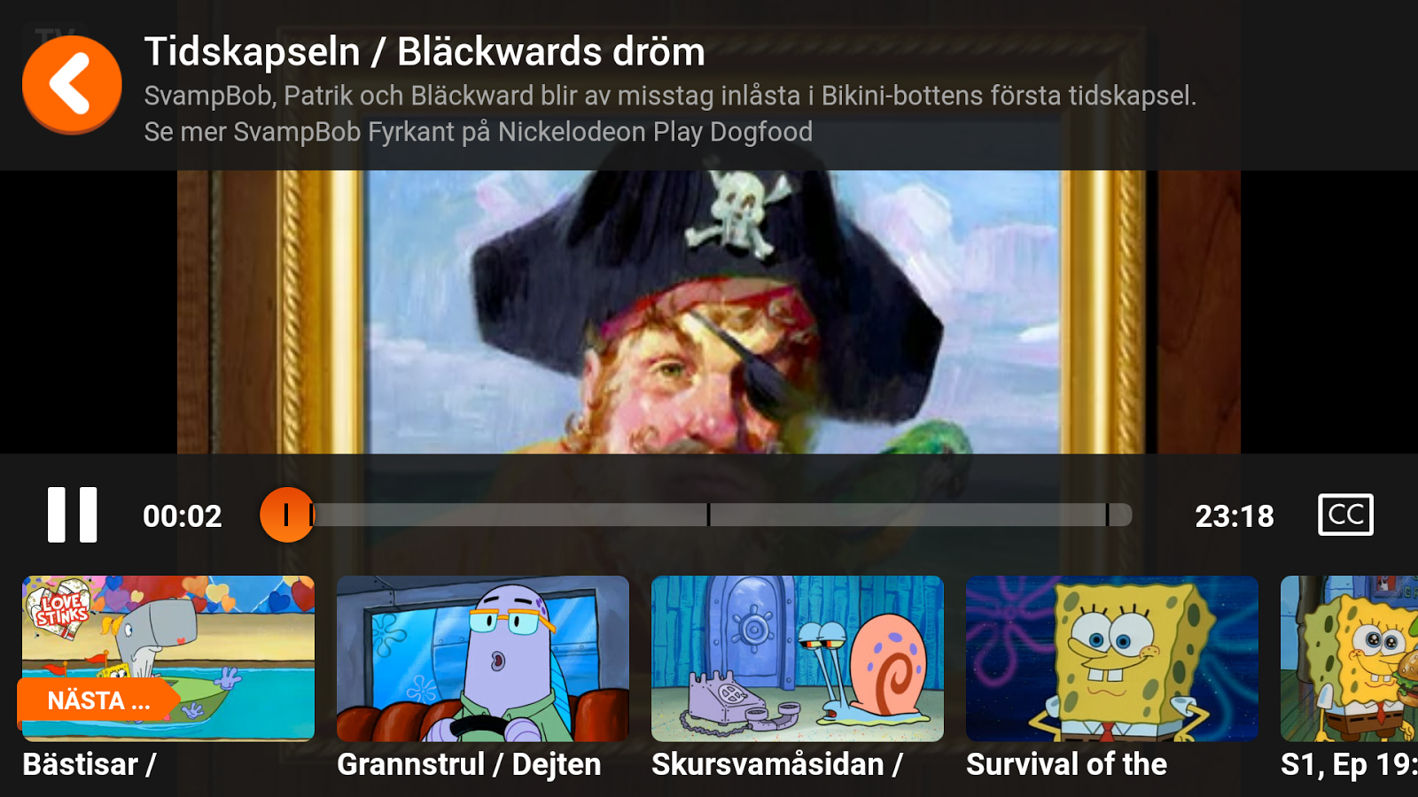 Nickelodeon Play– skärmdump