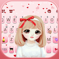 Pretty Bowknot Girl Keyboard Theme apk