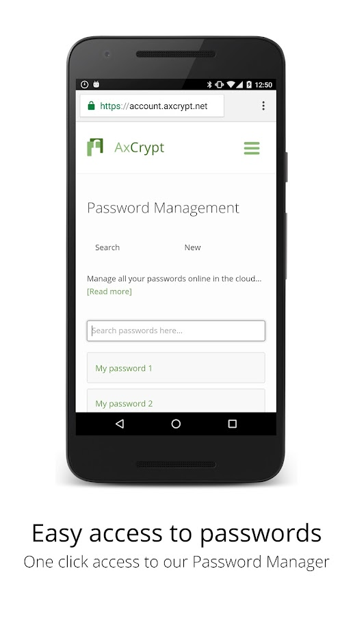 AxCrypt- screenshot