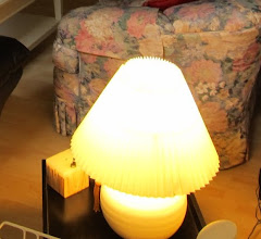 Photo: Ivory table lamp - $8 or Best Offer