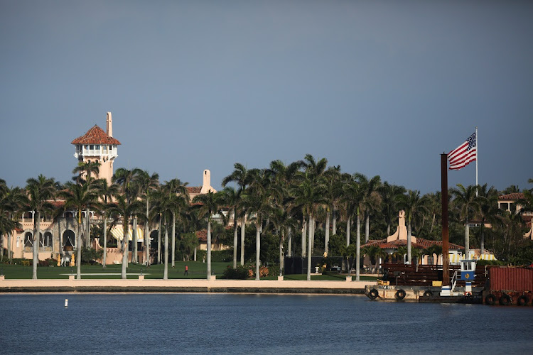 Former US President Donald Trump's Mar-a-Lago resort is seen in Palm Beach, Florida, US February 8, 2021.