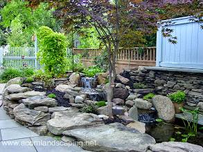 Photo: Garden Pond Rochester NY, #WaterfallPond, Ecosystem #FishPond, Koi Pond, Landscape Pond, Pond Designer, Pond Contractor, Pond Service, Pond Maintenance, Pond Installer, Pond Builder, Pond Design by Acorn Ponds & Waterfalls.Certified Aquascape Contractor since 2004.  Check out our website www.acornponds.com and give us a call 585.442.6373.  Certified Aquascape Contractor of Monroe County, Rochester NY. Service areas include Rochester NY, Webster NY, Greece NY, Brighton NY, Pittsford NY, Penfield NY, Fairport NY, Irondequoit NY, Victor NY, Rush NY, Henrietta NY, Bushnell's Basin NY.  Sign up for your personal design consultation here: www.acornponds.com/contact-us.html  For more info about our Aquascape Ecosystem Ponds, please click: www.acornponds.com/ponds.html  To learn more about Acorn Ponds & Waterfalls Services, please click here: www.acornponds.com/services.html  Check out our photo albums on Pinterest here: www.pinterest.com/acornlandscape/  Click here for a free Magazine all about Ponds and Water Features: http://flip.it/gsrNN  To see more of our #pondinstallations on Facebook click here: www.facebook.com/media/set/?set=a.464911070212687.94604.103109283059536&type=3  Acorn Ponds & Waterfalls  585.442.6373 www.acornponds.com