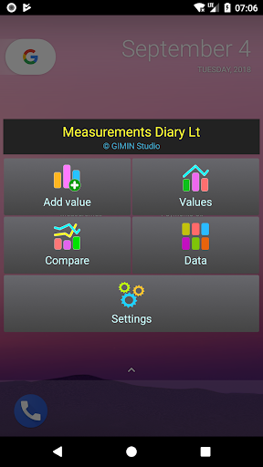 Measurements diary Lt. screenshots 1