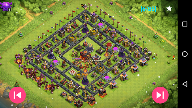 Maps of Clash Of Clans