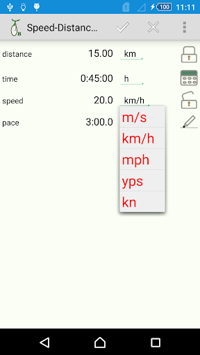 Triplan A: speed pace time