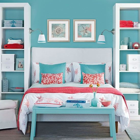 Red and Coral Bedroom