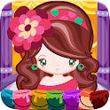 Little Girl Fashion Coloring icon