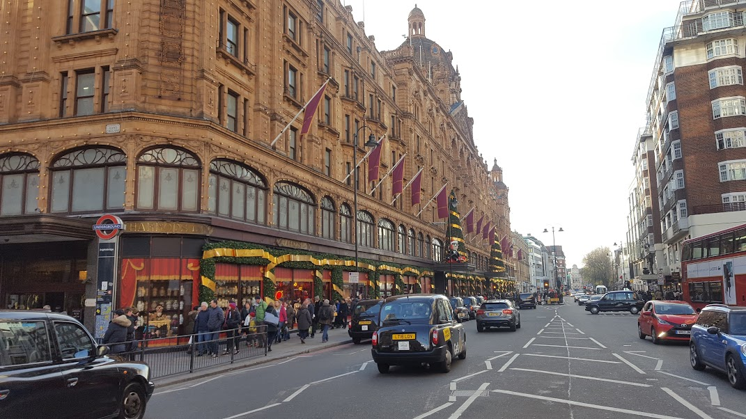 The street outside Harrods