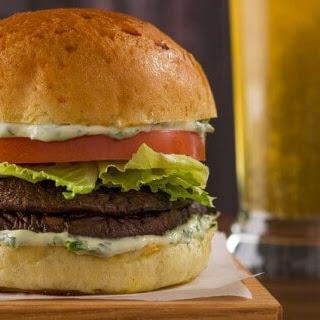 Vegan Grilled Portobello Burgers.