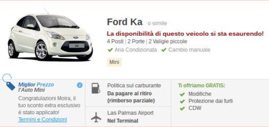noleggio auto online termini e condizioni