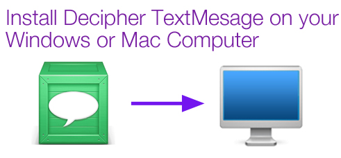 decipher text messages saves text messages to your computer
