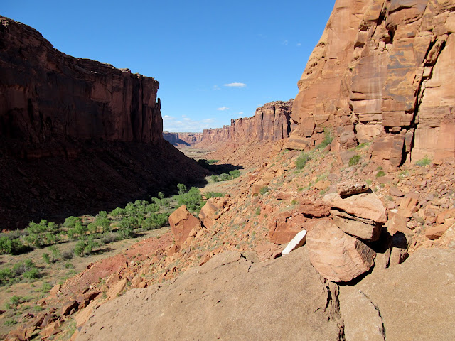 View while climbing back up the Angel Trail