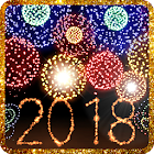 New Year 2018 fireworks icon